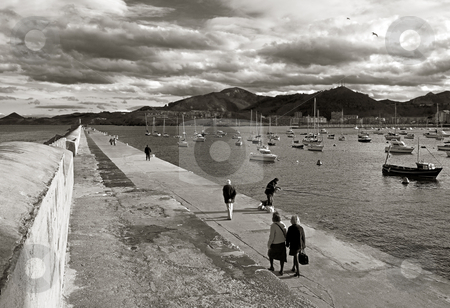 Walk stock photo, Deep image of a walk by the sea in cantabria, spain by Ivan Montero
