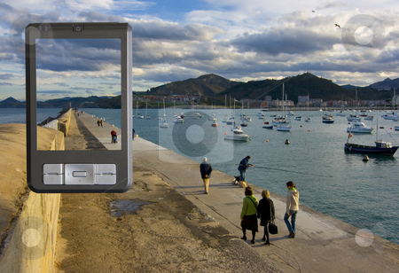 Pda stock photo, Image of a pda in a natural background by Ivan Montero
