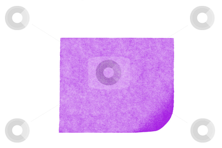 Isolated blank postit paper on white background stock photo, Isolated blank color paper post it or postit where you can write or edit easily by Ivan Montero