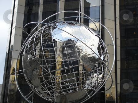 Globe at Trump Tower in New York stock photo,  by Ritu Jethani