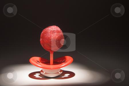 Lollipop Pacifier stock photo, A lollipop pacifier, child dental care concept by Robert Byron