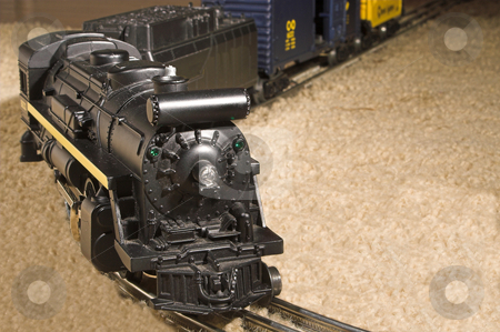 Model Train stock photo, A classic electric die cast scale model train. by Robert Byron