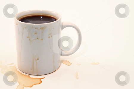 Messy Slob stock photo, Sloppy coffee drinker by Jack Schiffer