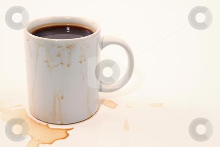 Messy Slob stock photo, Sloppy coffee drinker by Jack Schiffer