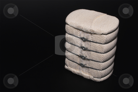 Cotton Bale stock photo, A bale of raw cotton used to make textile products. by Robert Byron