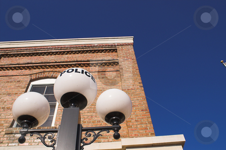 Old Police Station stock photo, A histoiric old timey style police station. by Robert Byron