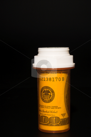 Rising Cost Of Medicine stock photo, The concept of sharply rising healthcare costs. by Robert Byron
