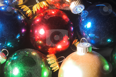 Christmas Ornaments stock photo, A very colorful set of Christmas ornaments. by Robert Byron
