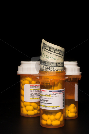 High Cost of Prescriptions stock photo, The concept of the rising cost of prescription medication. by Robert Byron