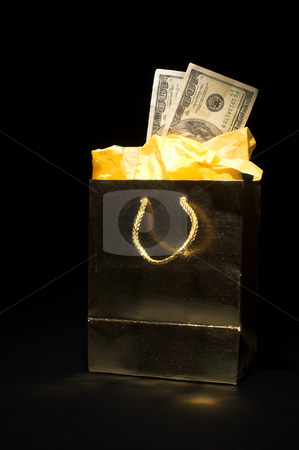 Christmas or Birthday Present stock photo, A Christmas or birthday present of cash. by Robert Byron