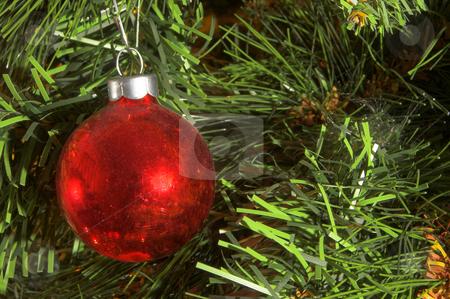 Christmas Ornament stock photo, A very colorful Christmas ornamental glass ball. by Robert Byron