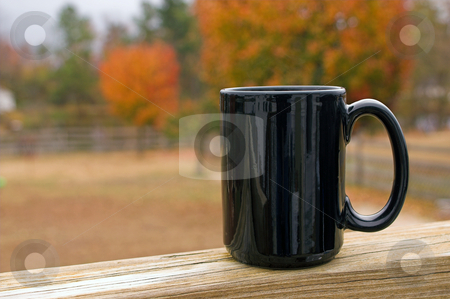 Coffee Mug stock photo, A mug of hot coffee in the morning. by Robert Byron
