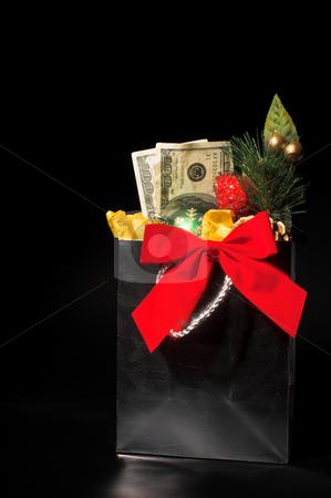 Christmas or Birthday Present stock photo, A Christmas or birthday present of cash. by Robert Byron