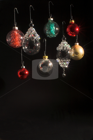 Christmas Ornaments stock photo, A collection of very colorful Christmas ornaments. by Robert Byron