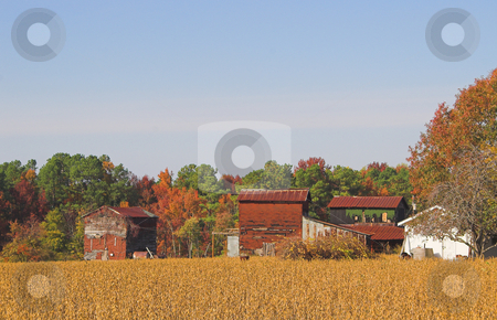 Old Farm stock photo, An old farm in the autumn part of the year. by Robert Byron