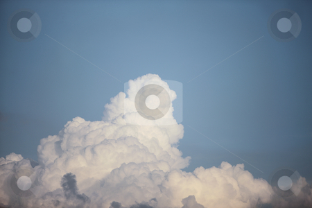 Blue sky stock photo, Blue sky with white clouds by Claudia Veja