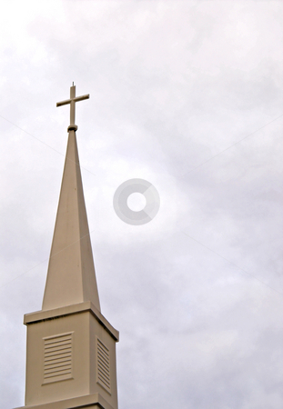 Steeple stock photo, A steeple on top of a church building. by Robert Byron