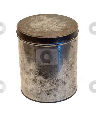 Large Tin Can stock photo, A large tin can isolated on a white background by Richard Nelson