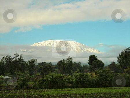Mt. Kilimanjaro stock photo, Mt. Kilimanjaro on the Kenyal/Tanzania border. by Rose Nthiwa
