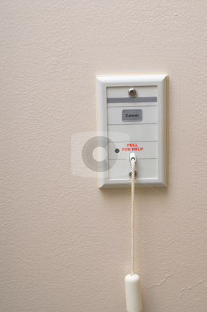 Hospital Emergency Call Switch stock photo, An emergency call pull switch in a hospital room. by Robert Byron