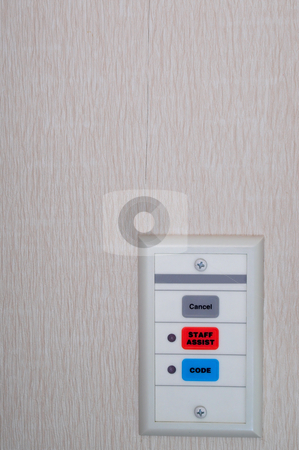 Emergeny Code Call Buttons stock photo, A set of hospital emergency code call buttons. by Robert Byron