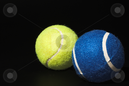 Tennis Balls stock photo, Felt covered tennis balls ready for sport. by Robert Byron