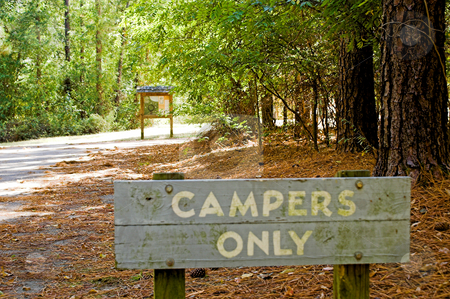 Campers Only stock photo, An area at a national park for campers only. by Robert Byron