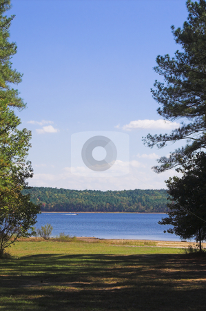 Peaceful Lake stock photo, A peaceful lake on a summer afternoon. by Robert Byron
