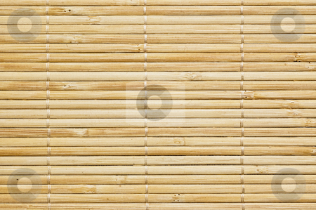 Bamboo mat background stock photo, Bamboo mat background, close up shot. by Pablo Caridad