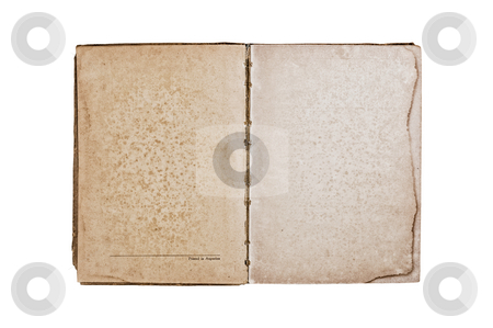 Vintage Book stock photo, Open vintage book, isolated on white background, path provided. by Pablo Caridad