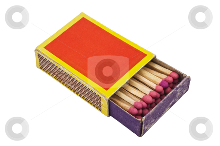Matchbox stock photo, Matchbox isolated on white background, with clipping path. by Pablo Caridad