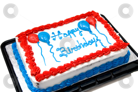 Birthday Cake stock photo, A cake for the celebration of an annual birthday. by Robert Byron