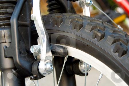 Bike Brakes stock photo, The brake parts on a mountain bike. by Robert Byron