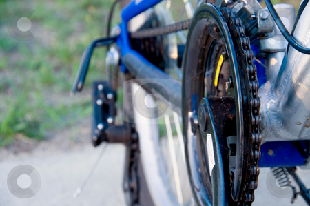 Bicycle Sprockets stock photo, A series of sprockets on a mountain bike. by Robert Byron