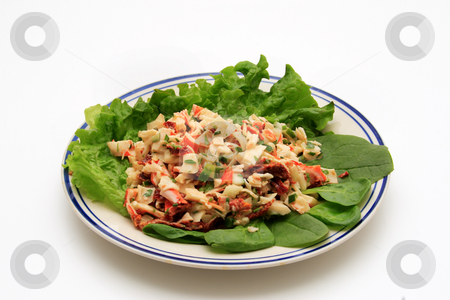 Crab Salad stock photo, Crab salad on a bed of lettuce by Jack Schiffer