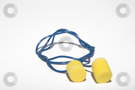 Ear Plugs stock photo, Safety ear plugs for personal protective equipment. by Robert Byron