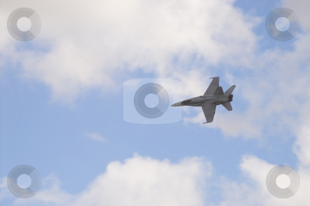 F18 Hornet stock photo, F 18 Hornet military attack fighter aircraft. by Robert Byron