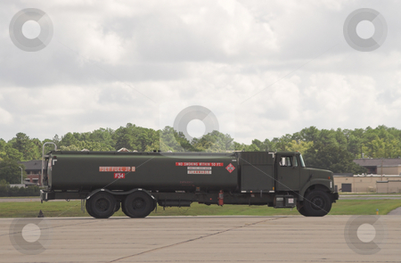 Fuel Truck stock photo, A military fuel truck carrying jet fuel. by Robert Byron