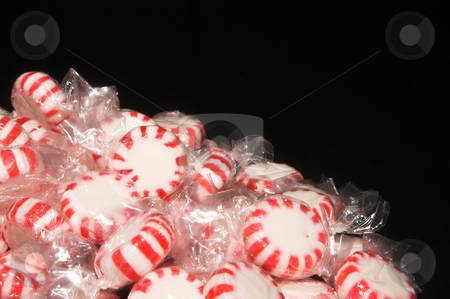Mints stock photo, A pile of Christmas holiday star mints. by Robert Byron
