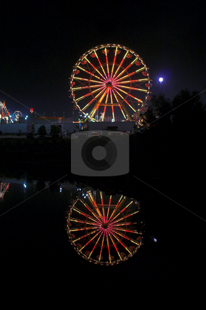 Ferris Wheel stock photo, A large ferris wheel or big wheel at a fair. by Robert Byron