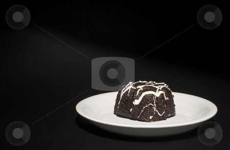 Chocolate Cake stock photo, A piece of decadently delicious chocolate cake. by Robert Byron