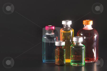 Medicine Vials stock photo, A collection of prescription medicine vials. by Robert Byron