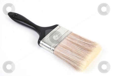 Brush stock photo, Paint brush on isolated white background by Jack Schiffer