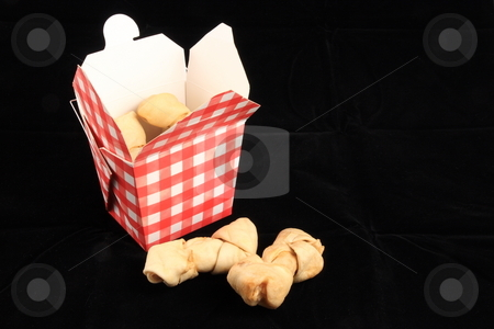 Dog treats stock photo, Doggy bones take out order by Jack Schiffer