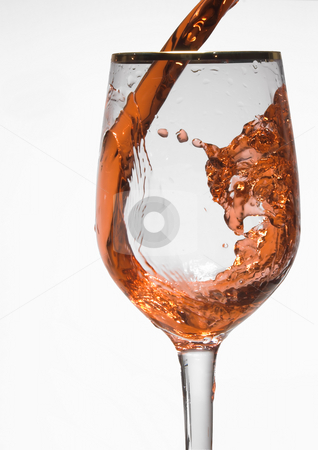 Red Wine stock photo, A glass of red wine in a wine goblet. by Robert Byron