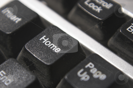 Home Key stock photo, The home key on a computer keyboard. by Robert Byron