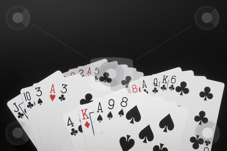 Playing Cards stock photo, An assortment of legal size playing cards. by Robert Byron