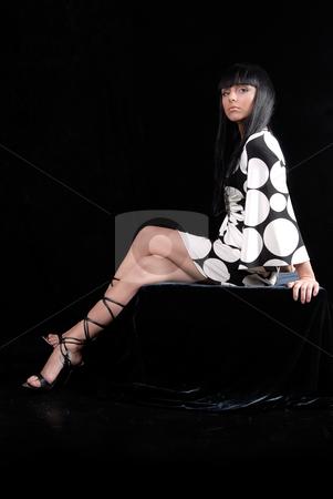 Beautiful Girl stock photo, Fashion dressed beautiful girl isolated on black background by Valeriy Mazur
