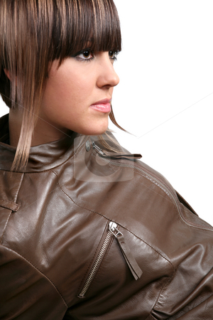 Manga Girl stock photo, Manga style fashion model with attractive hairstyle by Valeriy Mazur