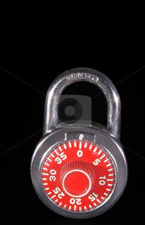 Combination Padlock stock photo, A combination type school locker security padlock. by Robert Byron